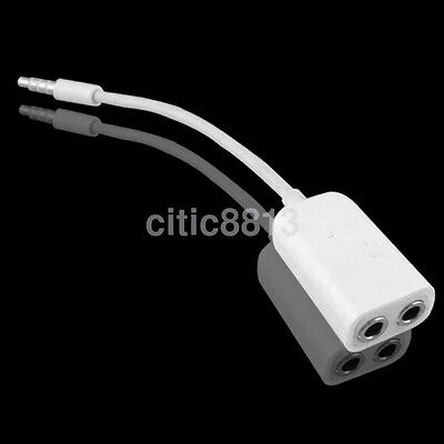 3.5mm Earphone Headphone Audio Extension Y Splitter Adapter double Jack Cable ^