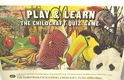 Vintage Play and Learn Childcraft Quiz Game 1976.