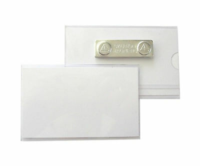 25 x Name badges, Id cover rigid PVC with Magnet 90x55 mm