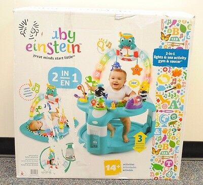 Baby Einstein  2 In 1 Lights And Sea Activity Gym And Saucer Three Positions New