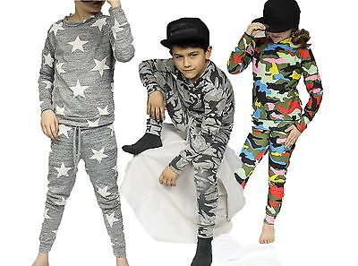 Kids multi coloured camoflague lounge suit / tracksuit