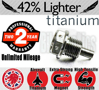 Oil Drain Bolt - Titanium - Magnetic- Triumph Speed Triple 1050 R EFI - 2016