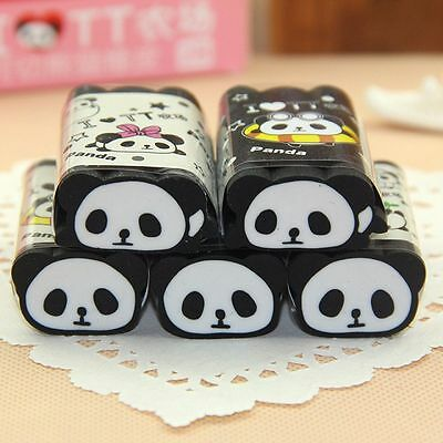 Cartoon Animal Panda Eraser Cuttable Pencil Erasers School Office Stationery HOT