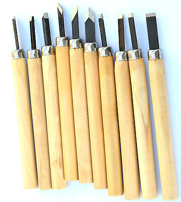 Mini Wood Carving Chisels Tools Set Hobby Woodwork Set  10 Set Assorted