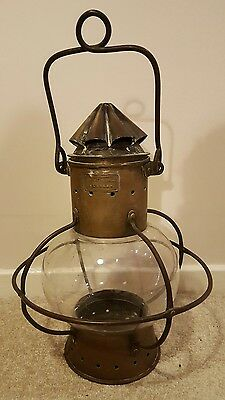 Vintage Copper Simpson Lawrence & Co Ships Onion Lantern lamp Nautical Maritime