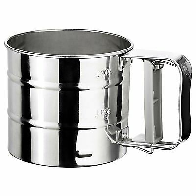 IDEALISK Flour Sifter Stainless Steel Measuring Cup Flour Strainer IKEA