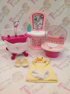Baby Born Interactive Lights And Sounds Bath And Shower, Toilet, Sink Bundle