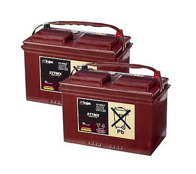 2x 12 Volt Trojan 27TMX Deep Cycle Battery - Boat Leisure Golf Buggy