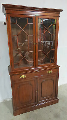 Henkel Harris China Cabinet Breakfront Cherry