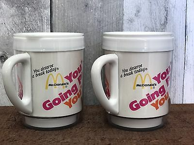 VTG McDonalds Advertising Insulated Coffee Mug Cup PM Magazine Your Going Places