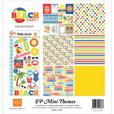 "Echo Park Collection Kit 12""X12"" Beach Party SW5705"
