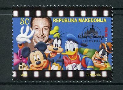 Macedonia 2016 MNH Walt Disney Mickey Mouse Donald Duck 1v Set Cartoons Stamps