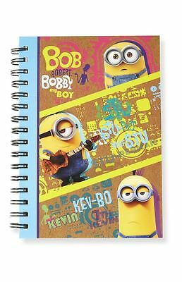 MINIONS | A5 Spiral Bound Note Book Despicable MINION MADE Notebook Pad