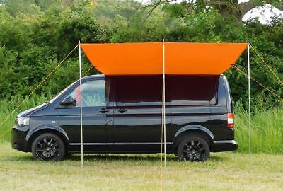 Campervan Sun Canopy Awning or Freestanding Shelter - Brilliant Orange