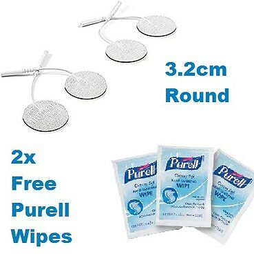 (3.2cm) ROUND TENS ELECTRODE PADS Reusable For Tens Machines EMS Massage Health