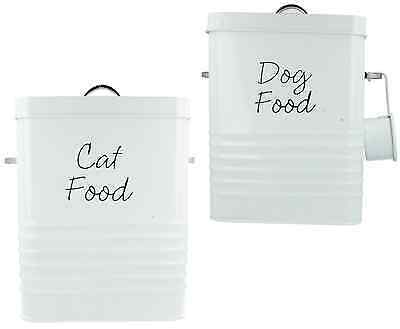 Lp27807 Lp27808 Lesser And Pavey Dog Cat Food Storage Tin Container With Scoop