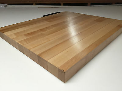 "25"" x 36"" x 1.5"" Maple Wood Butcher Block Counter top // Cutting Board"