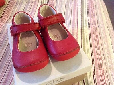 Clarks First Baby Girls Shoes Size 2 1/2 G Little Boo
