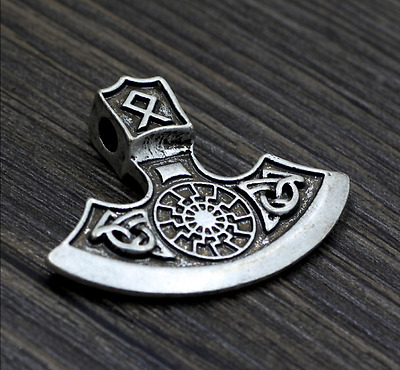 Free necklace Axe of perun God of war viking norse Amulet unisex Pendant 42 mm