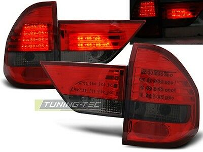 Led Rear Tail Lights Ldbm48 Bmw X3 E83 Suv 2004 2005 2006 Red Smoke