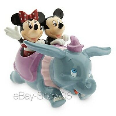 Dumbo with Mickey and Minnie Mouse Salt and Pepper Set Disney Park NIB