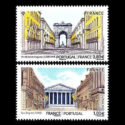 """France 2016 - Triumphal Arches """"Issue w Portugal"""" Architecture - Sc 5111/2 MNH"""