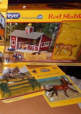 SALE 12 breyer stablemates + breyer stable, 2 mystery foal surprise sets 10pkgs