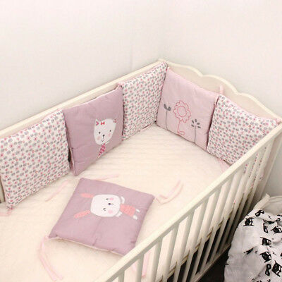 New Infant Bumpers Rabbit Pattern Crib Pads Cot Safety Protector 30*30cm 6PCS