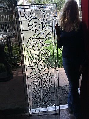 Leaded Stained and Beveled Glass Window