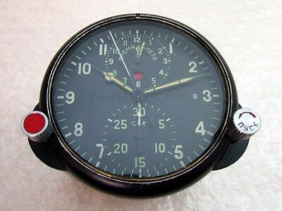 AChS-1 Chronograph Vintage Russian Air Force MIG Helicopter Cockpit Panel Clock