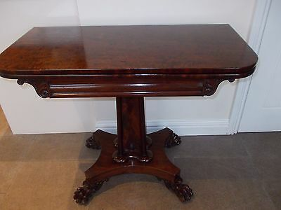 Antique William Iv Mahogany Tea Table / Side Table