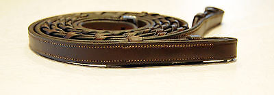 STITCH LINED laced reins brown for bridle edgewood new cavalry