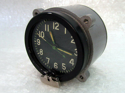 127-ChS AVRM 5 Days Vintage post-WWII Russian Army Tank T-34 Cockpit Panel Clock