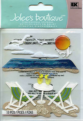 "Jolee's Boutique ""BEACH LEISURE"" Dimensional Scrapbooking Stickers - S25"