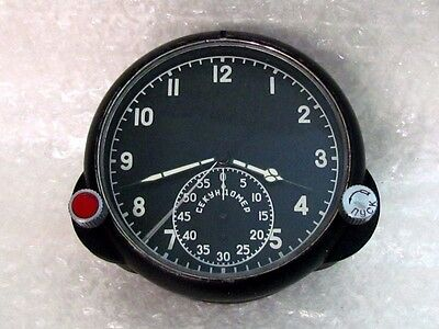60-ChP Chronograph Vintage Russian Air Force MIG Helicopter Cockpit Panel Clock