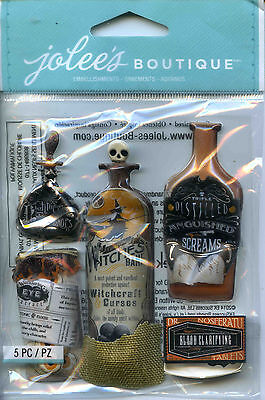 "Jolee's Boutique ""VINTAGE BOTTLES & LABELS"" Dimensional Scrapbooking Stickers-S2"