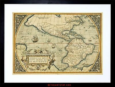Map Antique Mexico South America Pacific New Spain Framed Print F97X3979