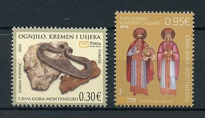 Montenegro 2016 MNH Historical Heritage Artefacts 2v Set Archaeology Stamps