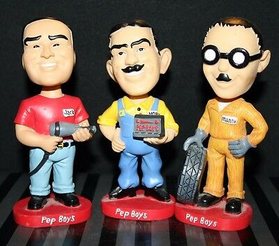 Pep Boys Bobblehead Set (out of box)