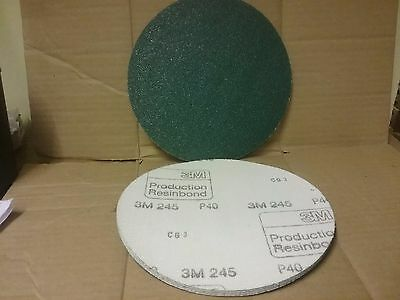 "P40 Hook & Loop Abrasive Discs 203mm Plain (No Hole) Pack (5)   8"" Sanding 200mm"