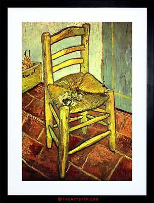 Painting Van Gogh Vincent's Chair With Pipe Framed Print F97X7485