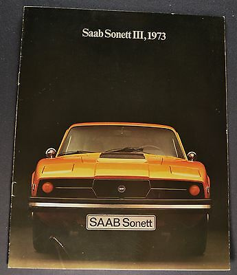 1973 Saab Sonett III Catalog Sales Brochure Excellent Original 73