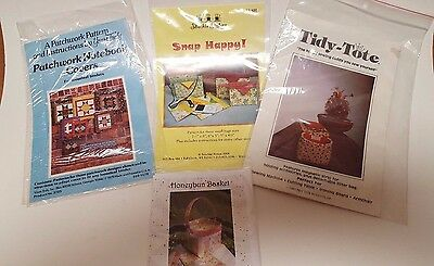 Vintage Sewing Quilting Pattern Assortment - Lot of Four New