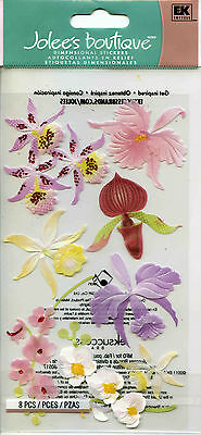"Jolee's Boutique ""ORCHIDS"" Dimensional Scrapbooking Sticker - O48"