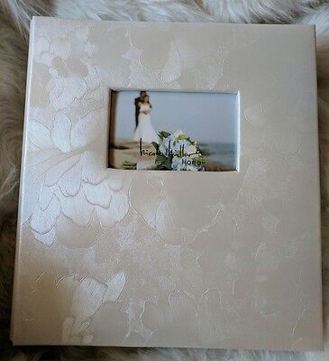 500 Photo Album by Nicole Miller Acid Free 4x6 11 x 13 Pearl Floral Wedding Gift