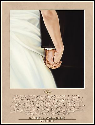 "Personalized Laser Engraved ""I DO"" Lithograph Plaque , Wedding/Anniversary"