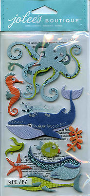 "Jolee's Boutique ""OCEAN ANIMALS"" Dimensional Scrapbooking Sticker - R95"