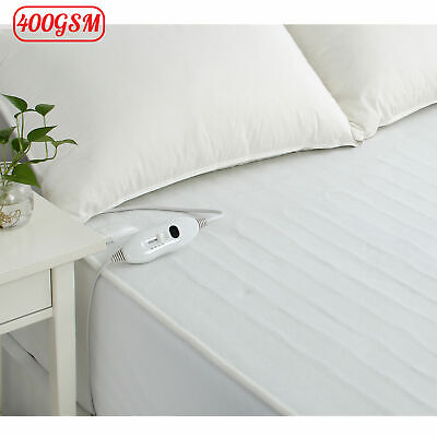 400GSM Electric Fitted Blanket 40cm Wall - SINGLE DOUBLE QUEEN KING Super King