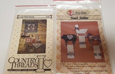 Vintage Sewing Quilting Country Theme Patterns  - Assortment Lot of Three New