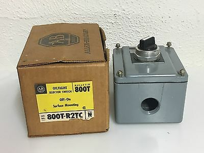 Allen-Bradley 800T-R2TC Oil Tight Selector Switch With Enclosure Series N